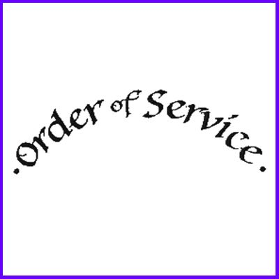 You can order Order of Service Curved Script Wood Mounted Rubber Stamp was £6.50