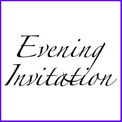 You can order Evening Invitation Flourish Script Wood Mounted Rubber Stamp was £6.00