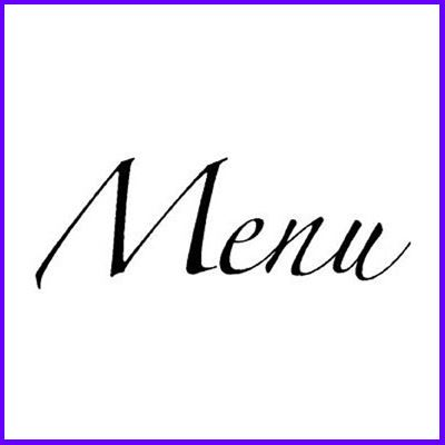You can order Menu Flourish Script Wood Mounted Rubber Stamp was £4.50