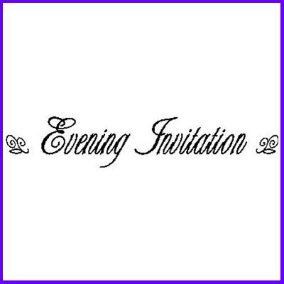 You can order Evening Invitation LB Script Wood Mounted Rubber Stamp was £6.50