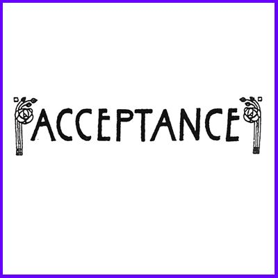 You can order Acceptance Macrose Script Wood Mounted Rubber Stamp was £6.50