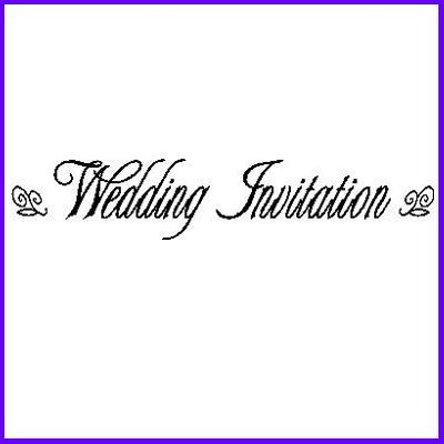 You can order Wedding Invitation LB Script Wood Mounted Rubber Stamp was £6.50
