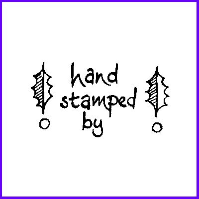 You can order Holly Hand Stamped By Wood Mounted Rubber Stamp was £4.00
