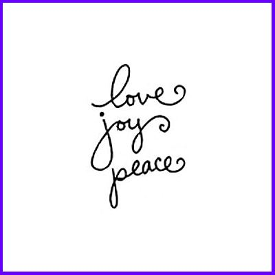 You can order Love Joy Peace Clear Cling Stamp was £3.00