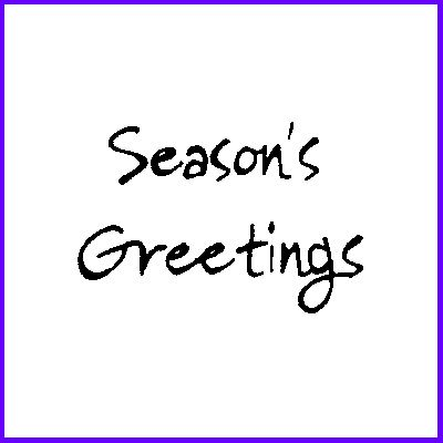You can order Seasons Greetings was £4.00