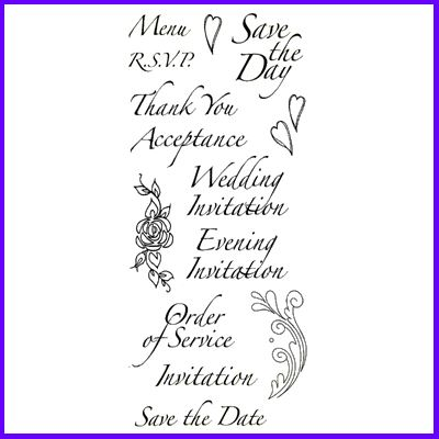 You can order Flourish Script Wedding Set of Clear Cling Stamps