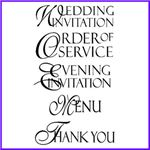 Order Scroll Script Rubber Stamps