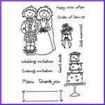 Order Scottish Tying The Knot Clear Cling Stamp Set