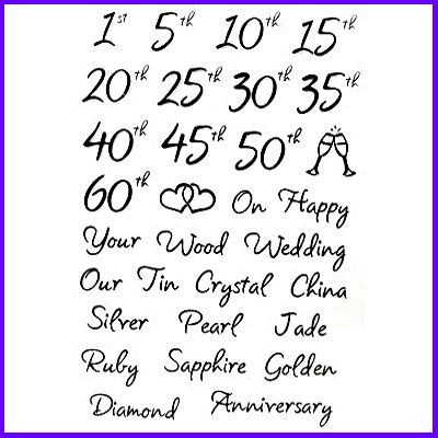 You can order Wedding Anniversaries Collection of Cling Stamps