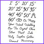 Order Wedding Anniversaries Clear Cling Stamps