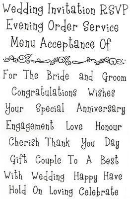 You can order Wedding Words