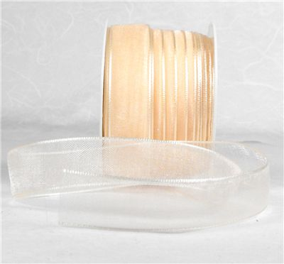 You can order Cream 15mm Organza Ribbon