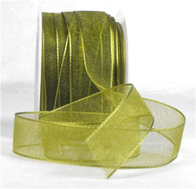 You can order Olive Green 15mm Organza Ribbon