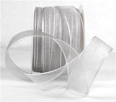 You can order Silver Grey 15mm Organza Ribbon