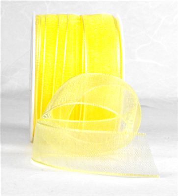You can order Yellow 15mm Organza Ribbon