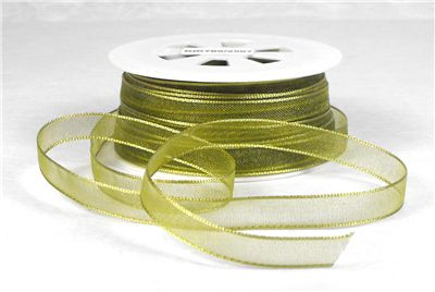 You can order Olive Green 7mm Organza Ribbon