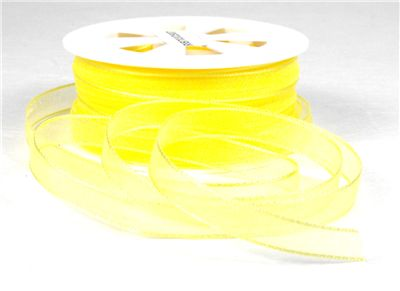 You can order Yellow 7mm Organza Ribbon