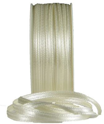 You can order Ivory 3mm Satiin Ribbon
