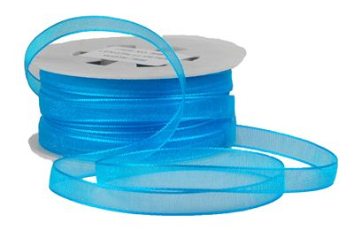 You can order Turquoise 7mm Organza Ribbon